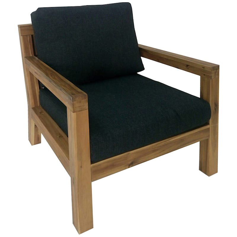Sabana Acacia Wood Arm Chair & Cushion