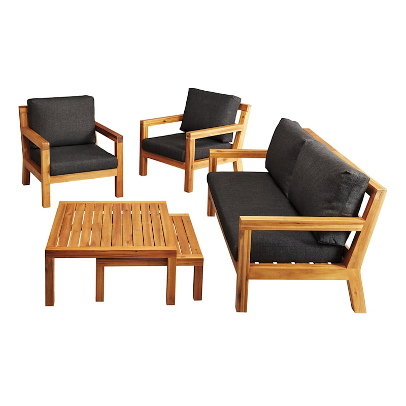 Sabana Acacia Wood Loveseat with Cushion
