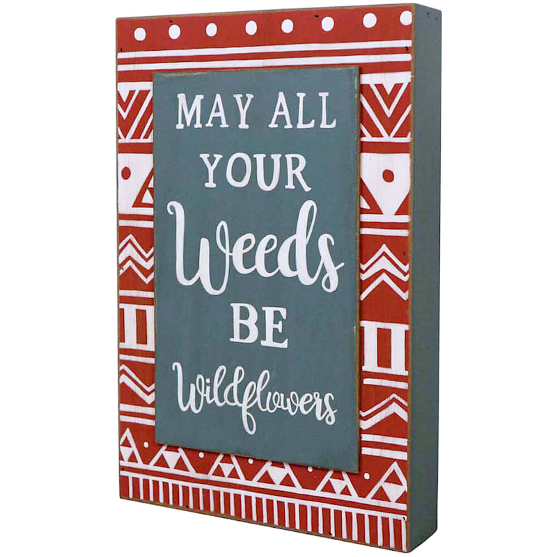 12IN WD WEED WORD SIGN