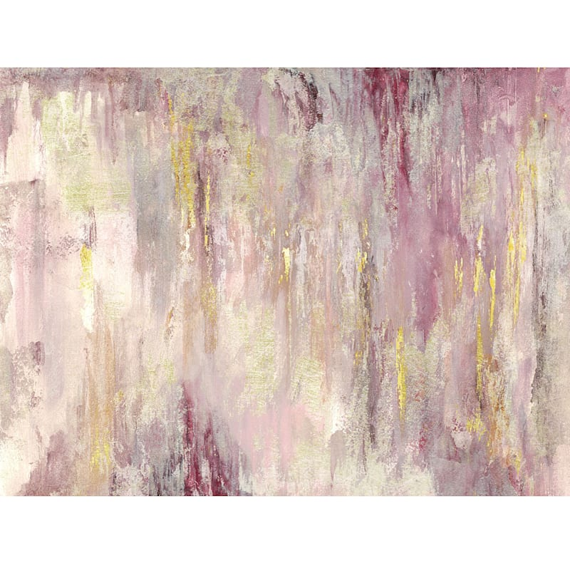 40X30 Blush Gold Landscape Foiled And Embellished Canvas Art
