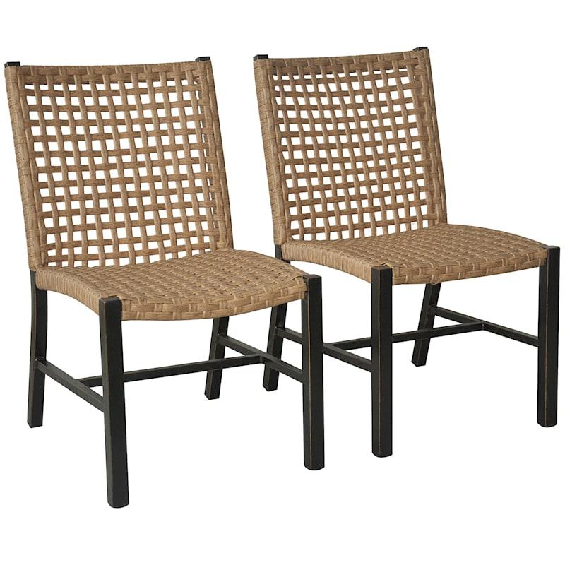 Cardiff Armless Chair, Set of 2