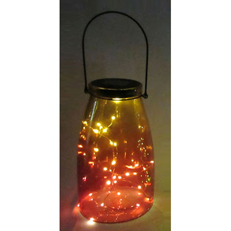 Glass Mason Jar/Solar/String Lights