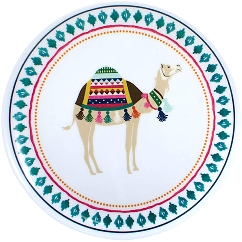 Set of 4 Camel Appetizer Plates