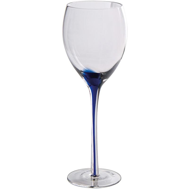 Blue Splash Wine Glass