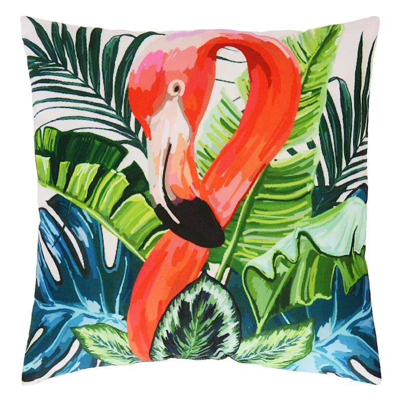 Outdoor Pillow- Flamingo