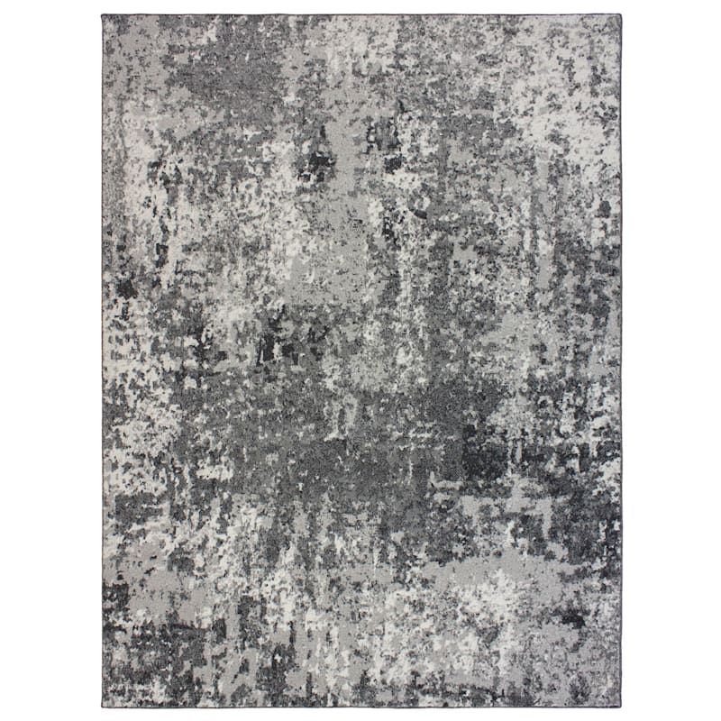 D434 Aria Abstract Gray Area Rug 5x7 At Home