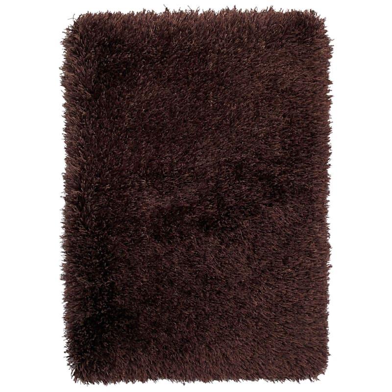 (C17) Mixed Brown Long Pile Shag, 5x7