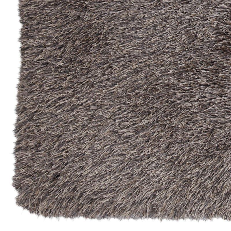 (C20) Mixed Natural & Grey Long Pile Shag, 5x7