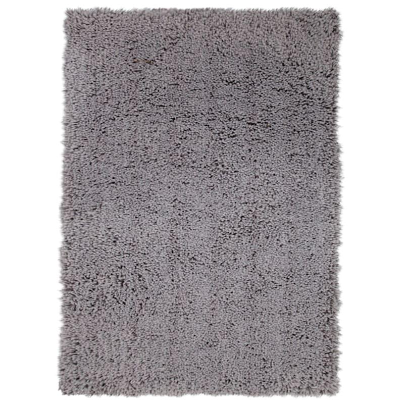 (C30) Solid Dark Grey Thick Pile Shag, 7x10
