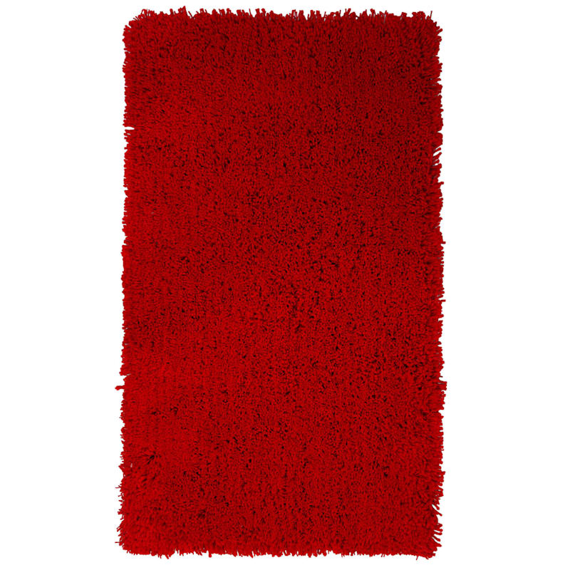 C34 Red Shag Rug- 3x5 ft