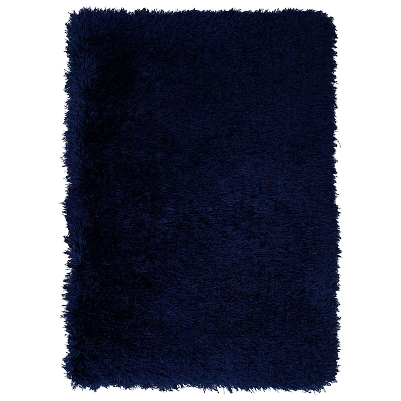 "C58 Senses Shag Rug, 6'3"" x 9'2"", Indigo Blue"