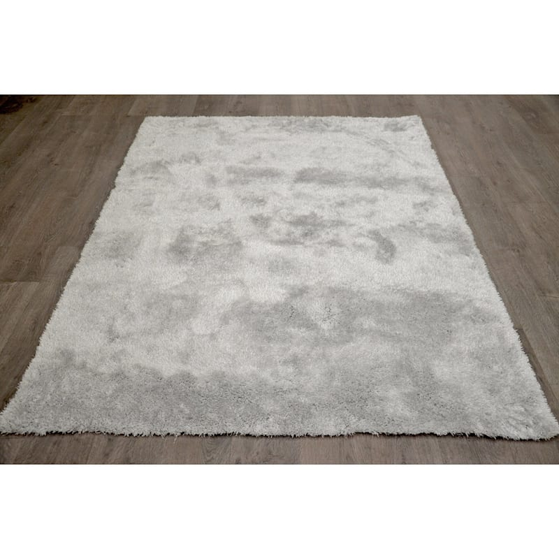 C76 Pale Blue Cosmo Shag Rug- 7x10 ft