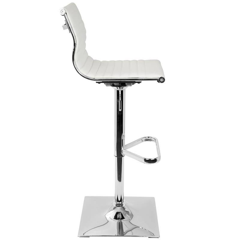 Master White Contemporary Adjustable Swivel Barstool