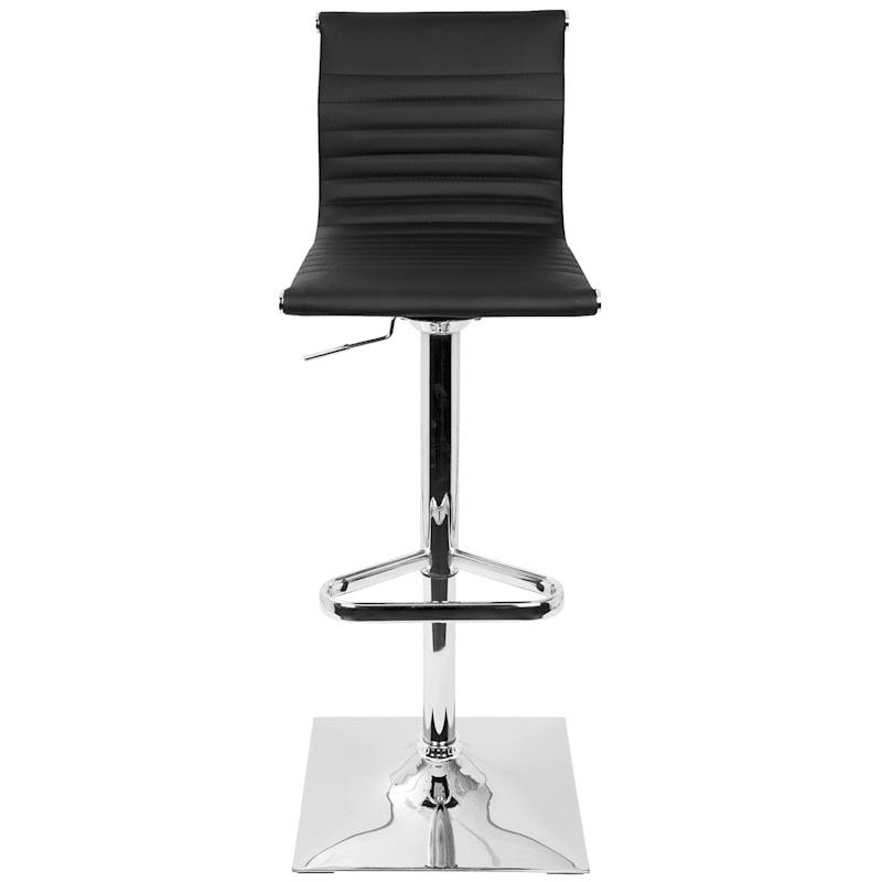 Master Black Contemporary Adjustable Swivel Barstool