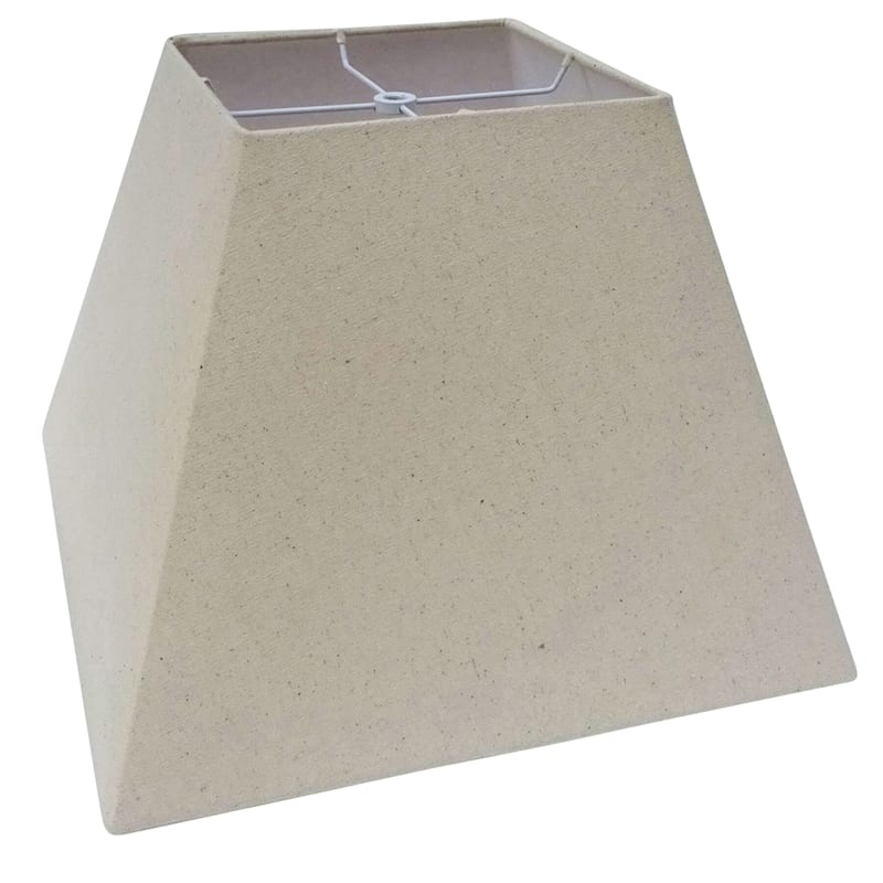 8x15x11 Beige Square Table Lamp Shade, Table Lamp Square Shade