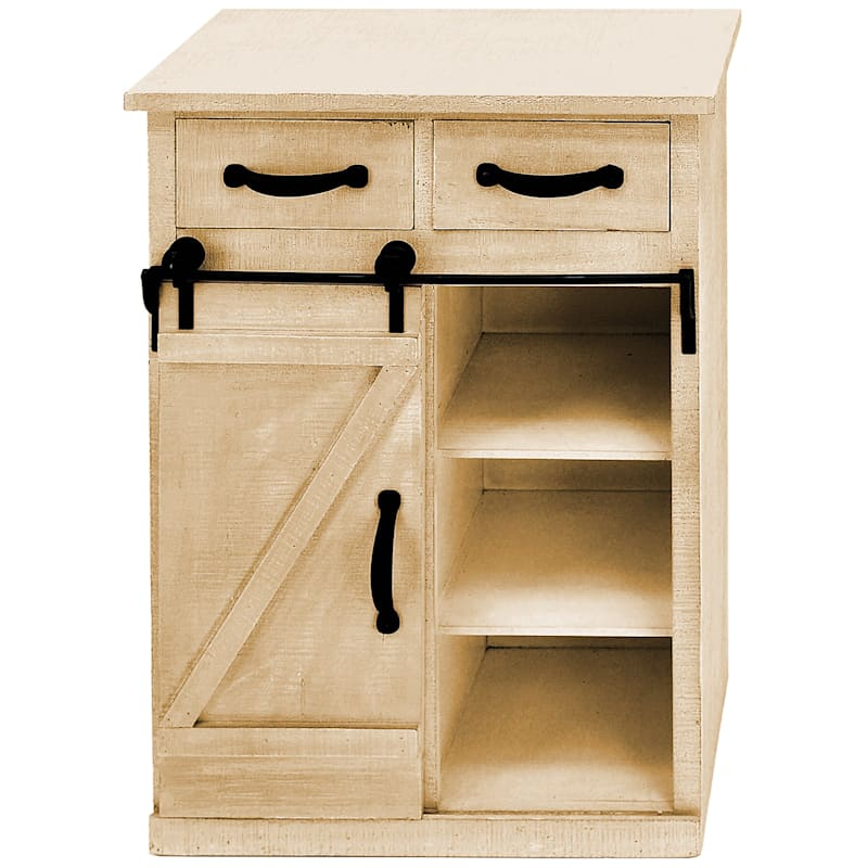 Charleston 2 Drawer Sliding Barn Door Cabinet