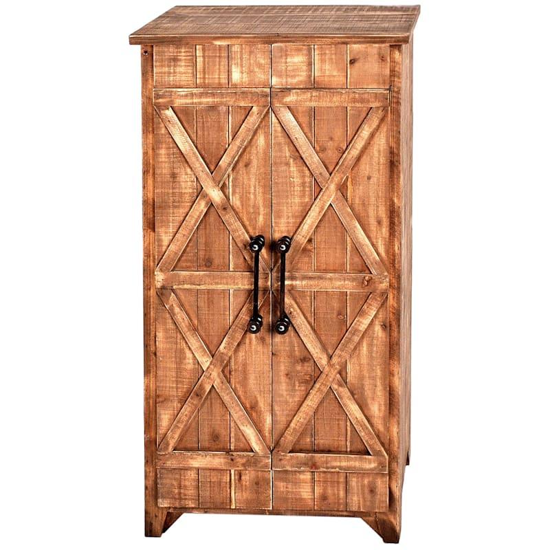 Columbia 2 Door Barnwood Cabinet