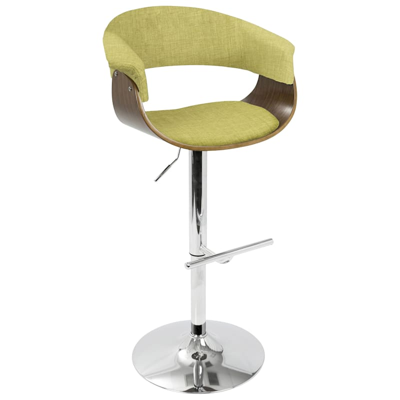 Vintage Mod Lime Adjustable Swivel Barstool