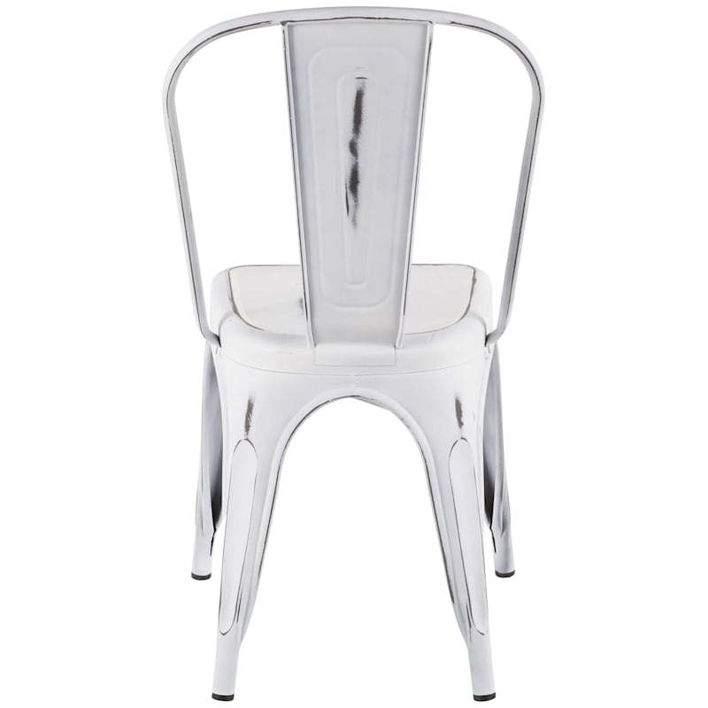 Oregon Vintage White Industrial Dining Chair