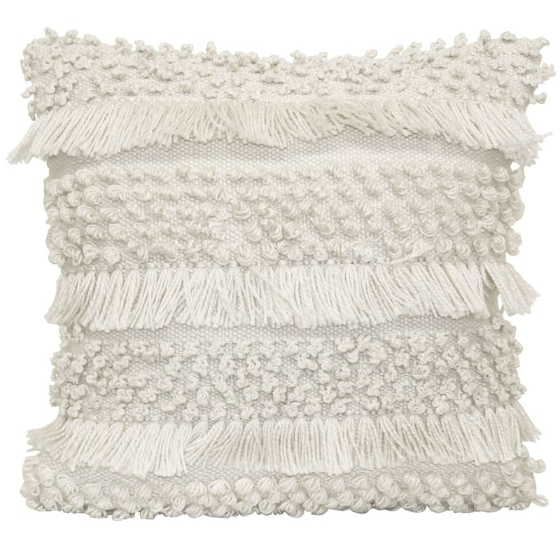 White Outdoor Pillow - Knotted
