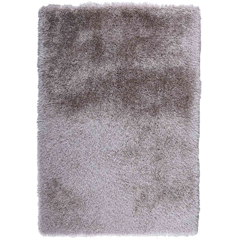 C101 Mixed Silver Grey Beige Long Pile Shag 7x10 At Home