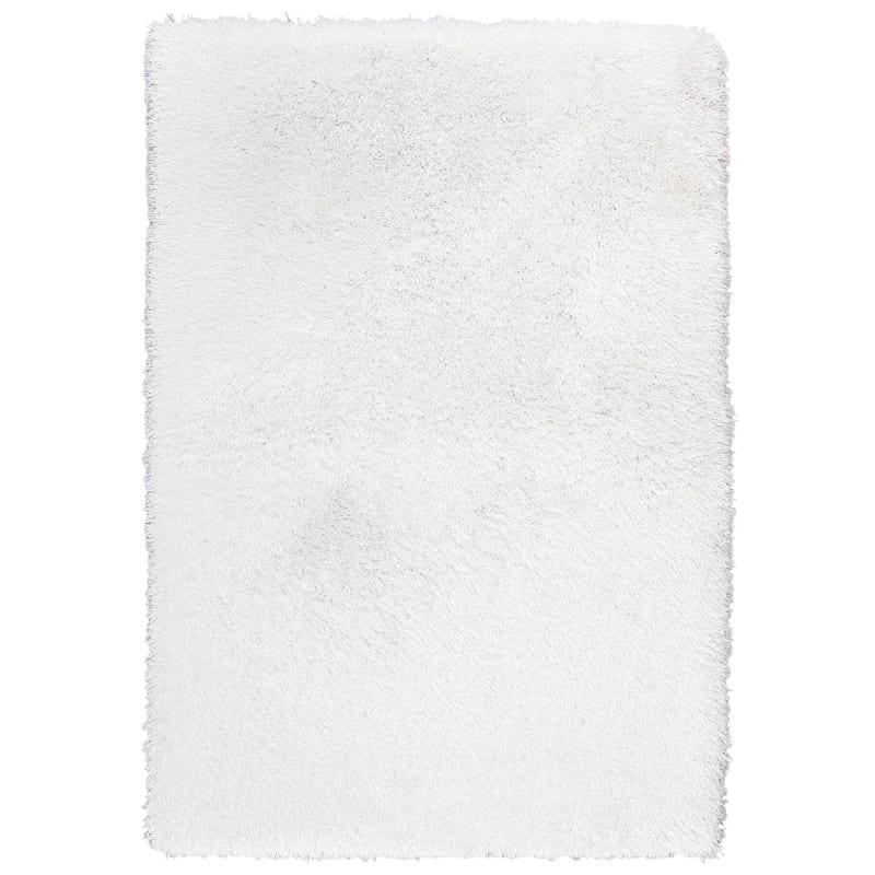 """C15 Senses Shag Rug, 6'3"""" x 9'2"""", White"""