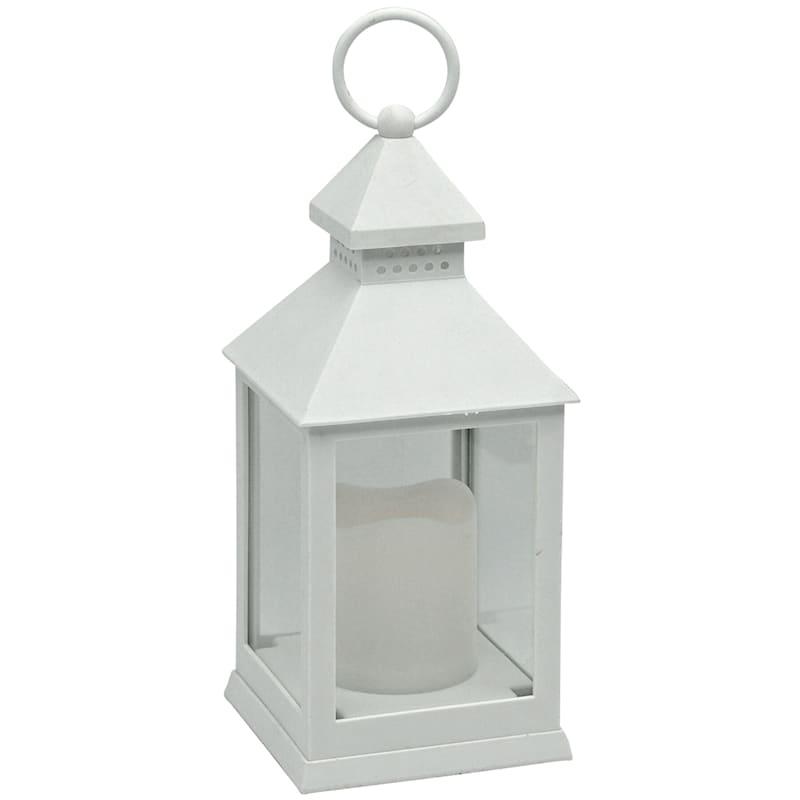 10in. Led Weather Proof White Lantern/Led Candle