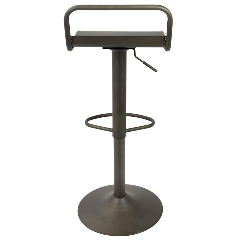 Emery Antique Bronze Adjustable Swivel Barstool