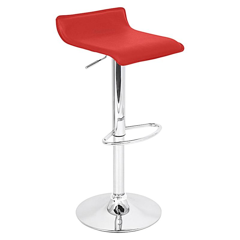 Ale Adjustable Metal Barstool, Red