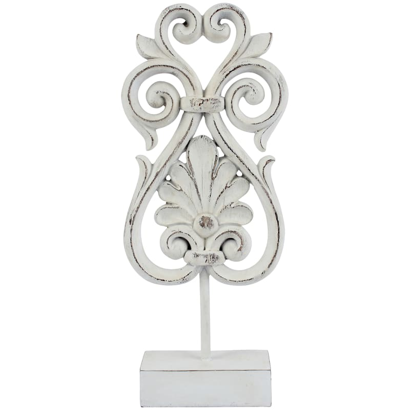 6X14.8 Resin Carved Motif On Stand