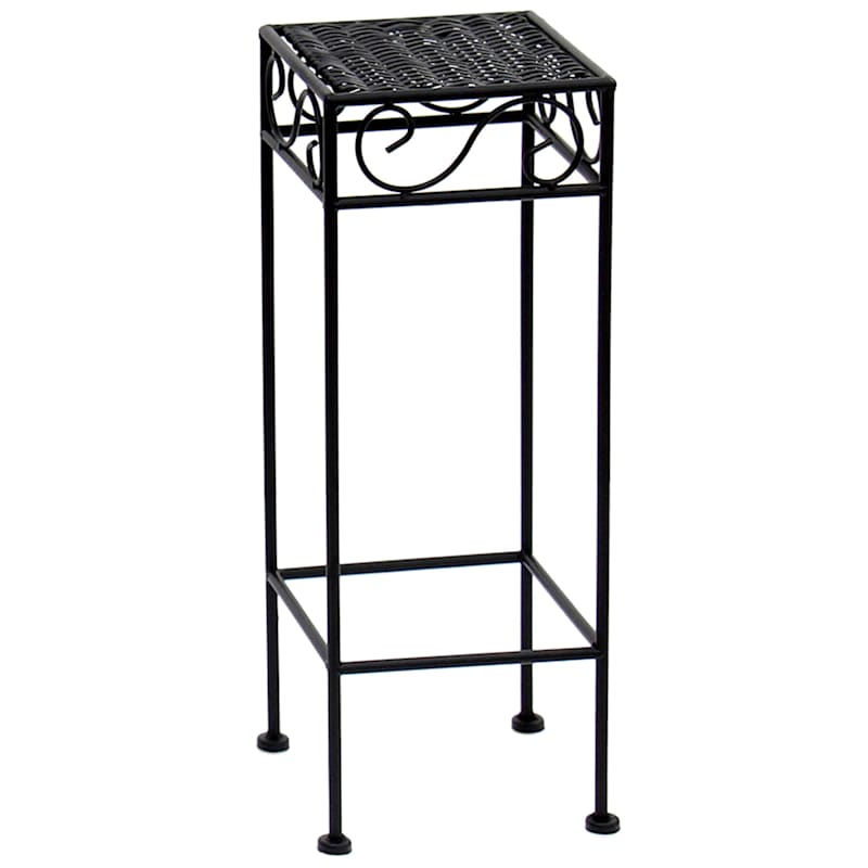 Drake Wicker Top Plant Stand Black, Small