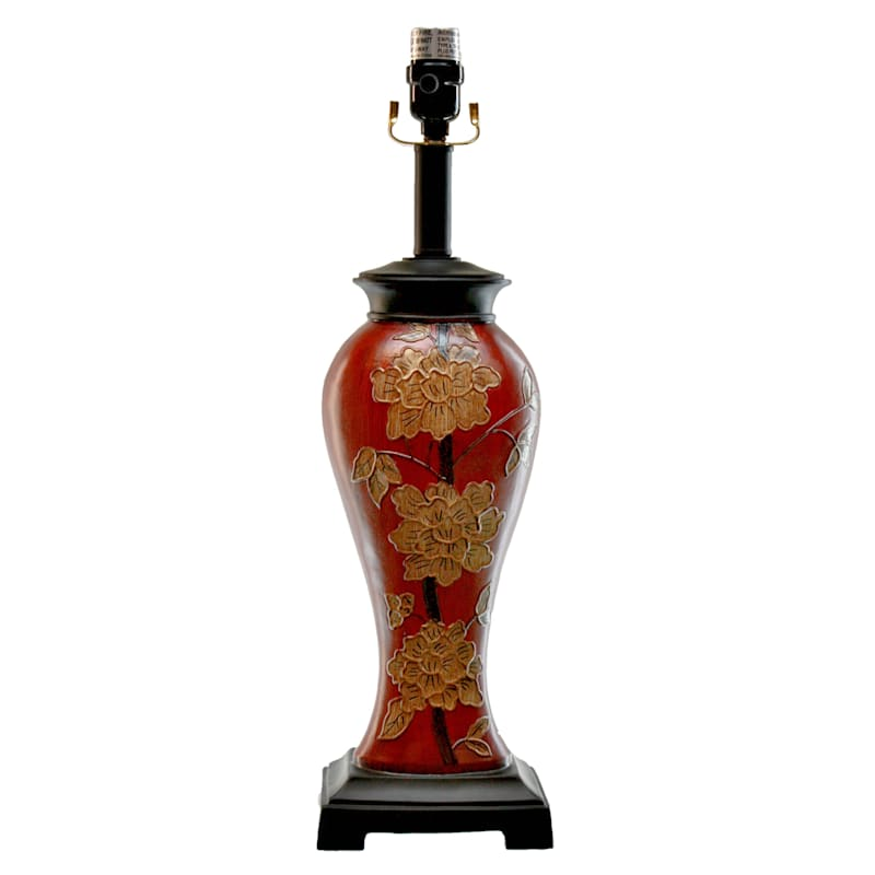 21in. Red Acrylic Table Lamp