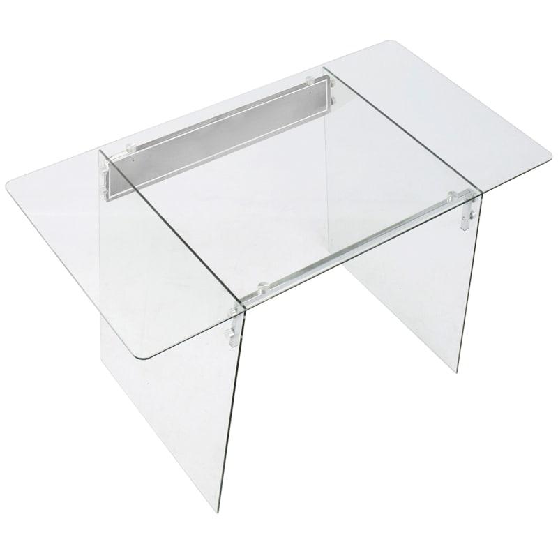 GLACIER GLASS MODERN DESK
