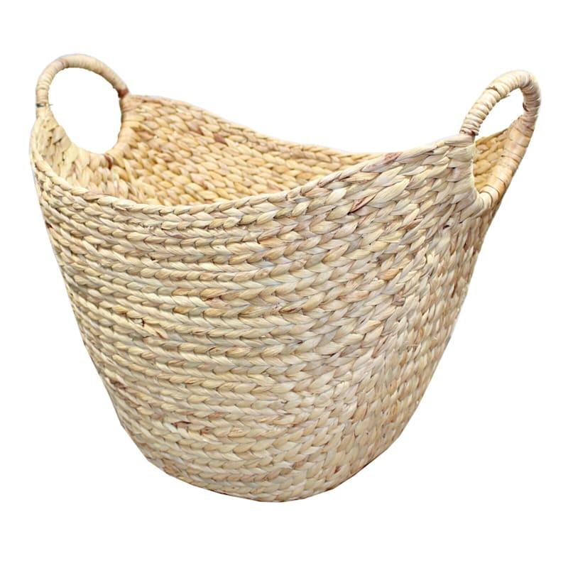 Water Hyacinth Boat Shape Basket L