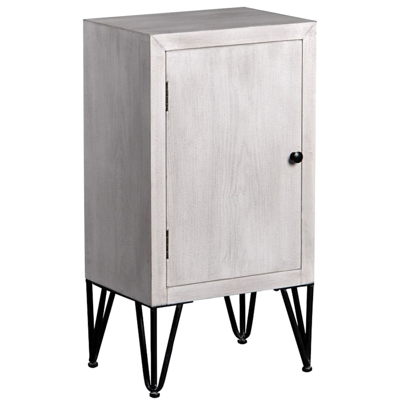 1 Door Cabinet With Metal Hairpin Legs