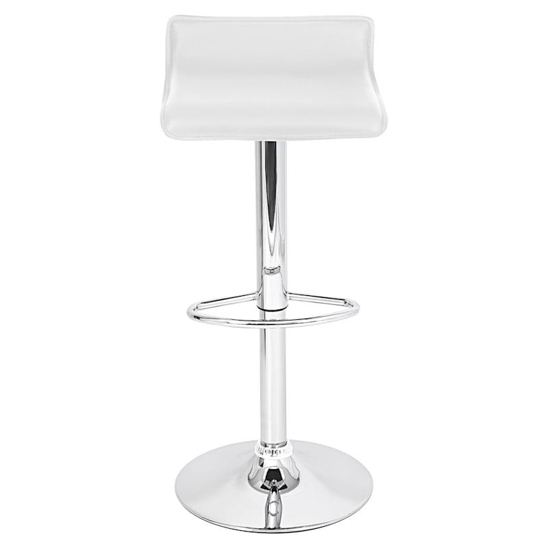 Ale White Backless Adjustable Barstool