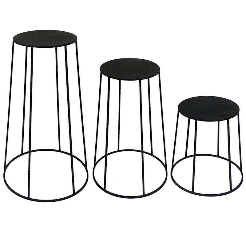 Round Metal Plant Stand, Large