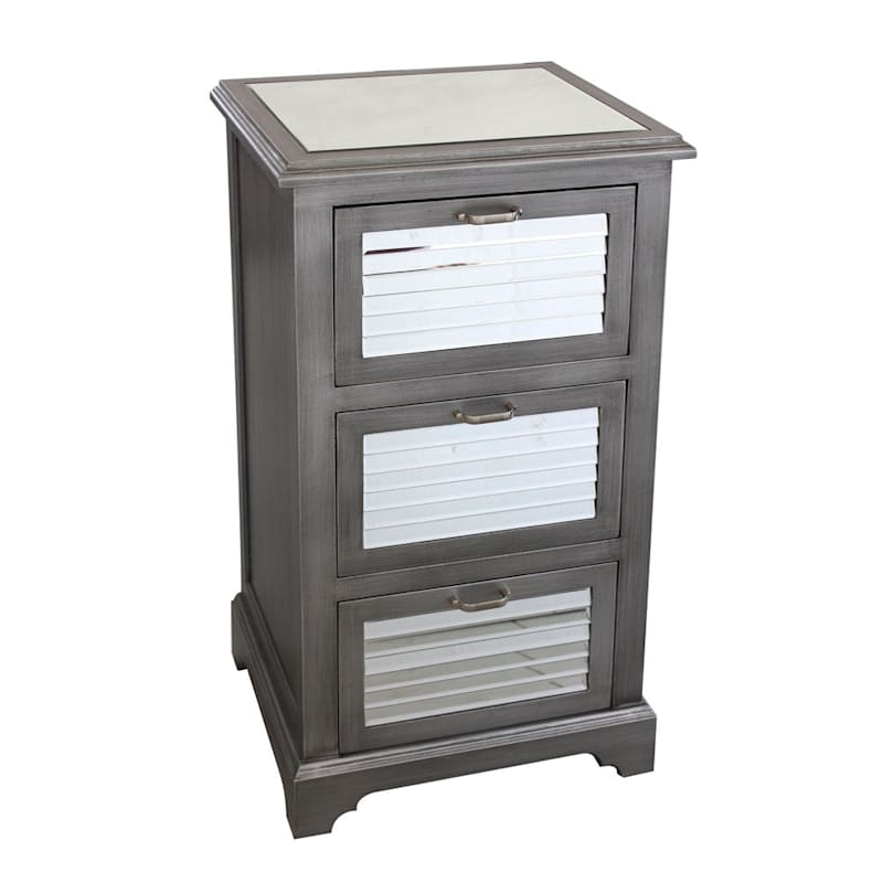 3 Drawer Shutter Mirror Cabinet