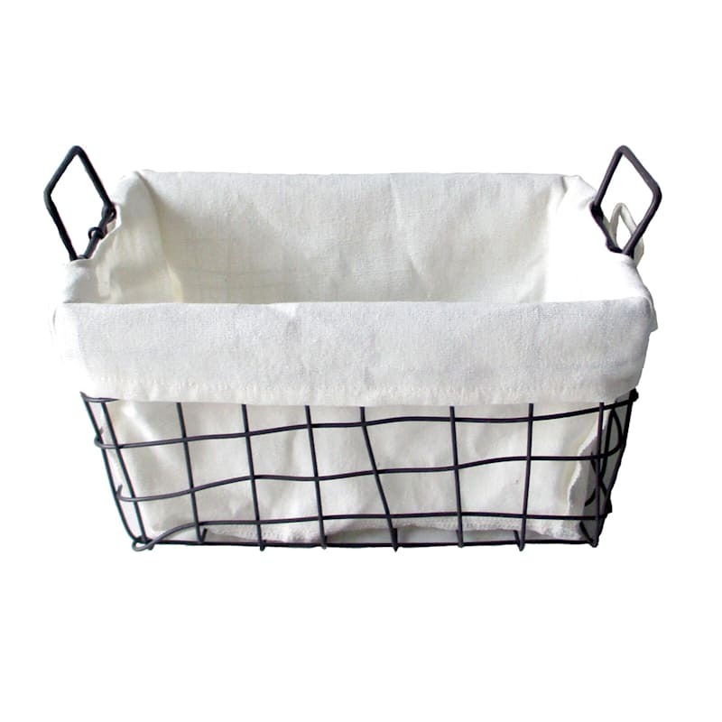 M Wire Rectangle Open Weave Basket Liner Handle