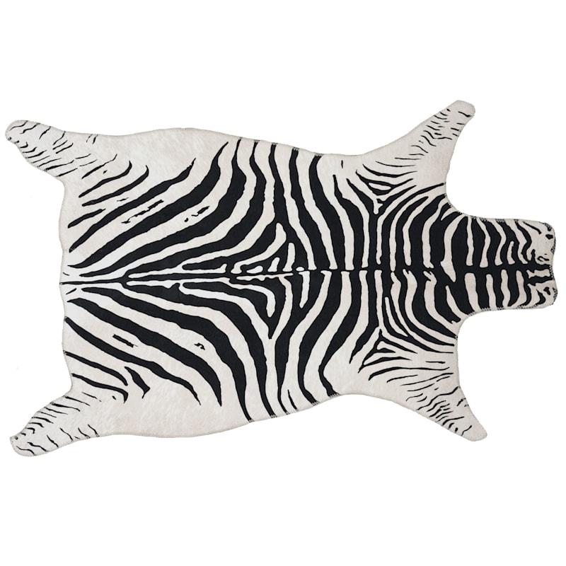 Zebra White Black Area Rug 3x5 At Home