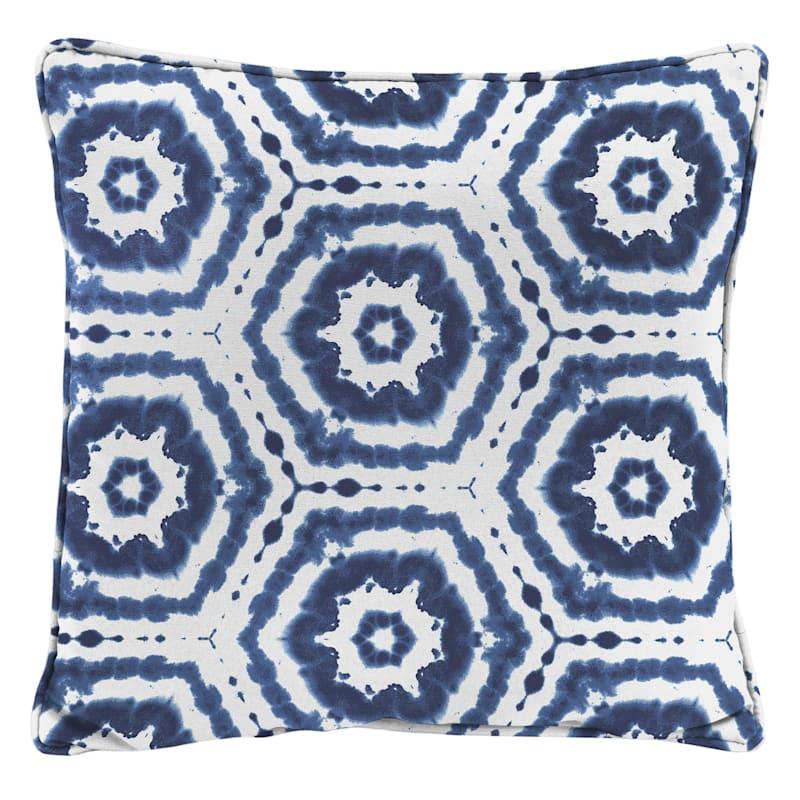 Blue Outdoor Pillow - Medallion