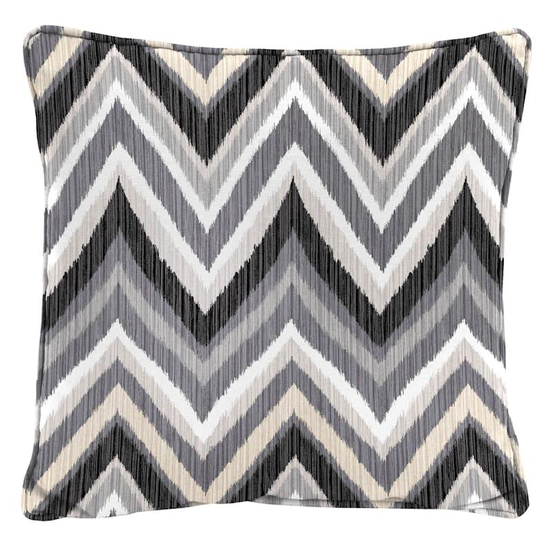Tan Outdoor Pillow - Zig Zag