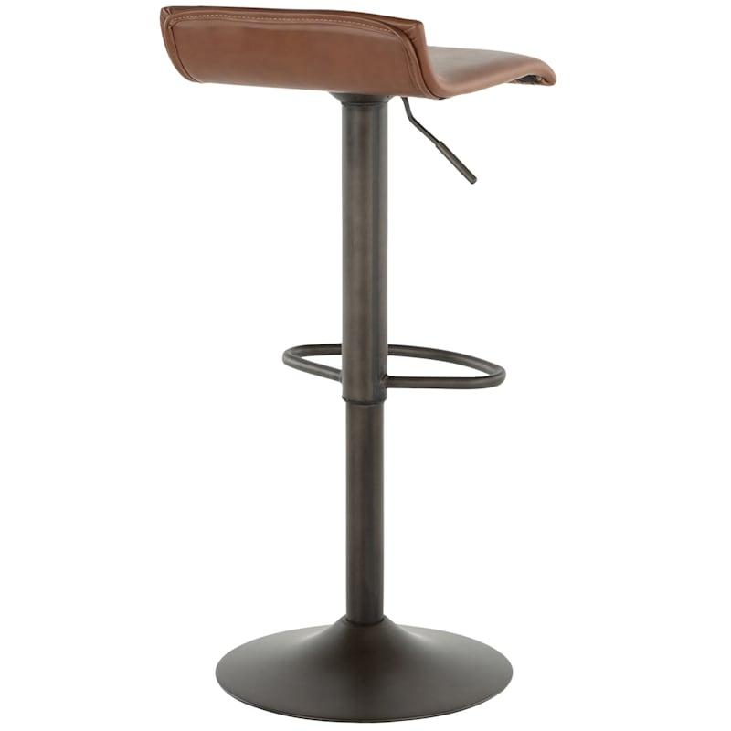 Ale Antique Bronze Adjustable Swivel Barstool