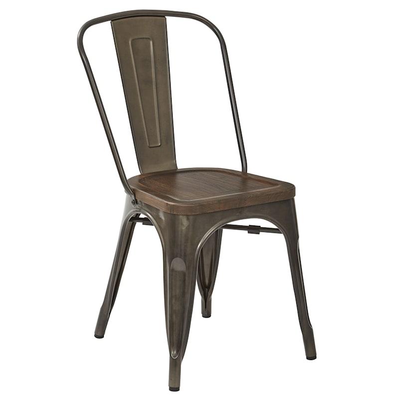 Dublin Metal & Ash Wood Dining Chair