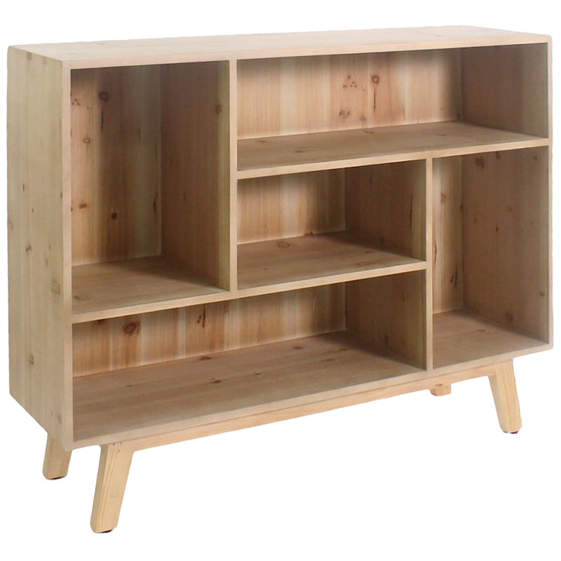 Natural Wood Display Cabinet