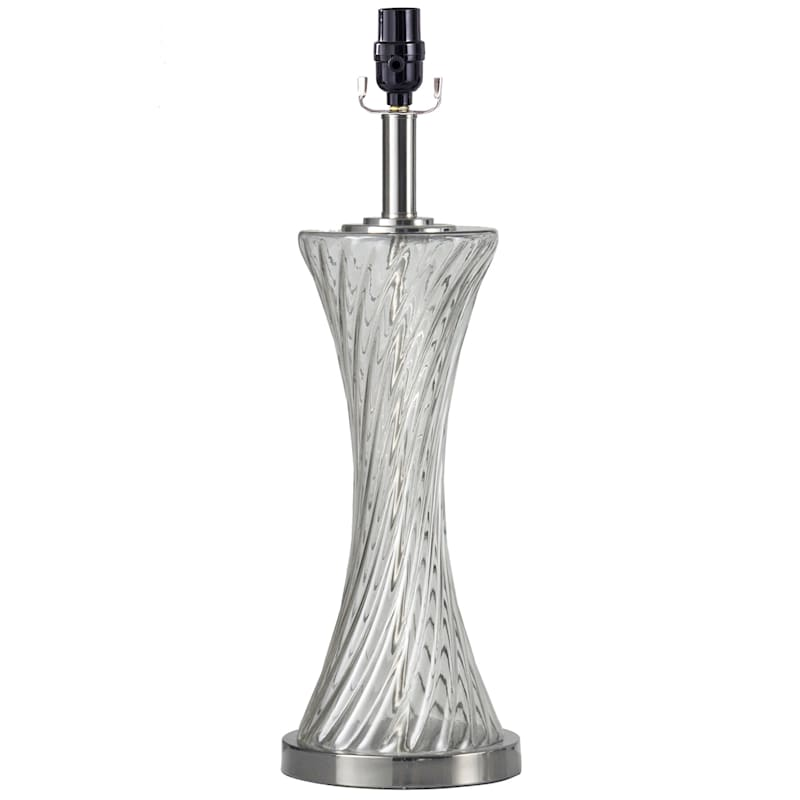 22in. Smoke Glass Table Lamp