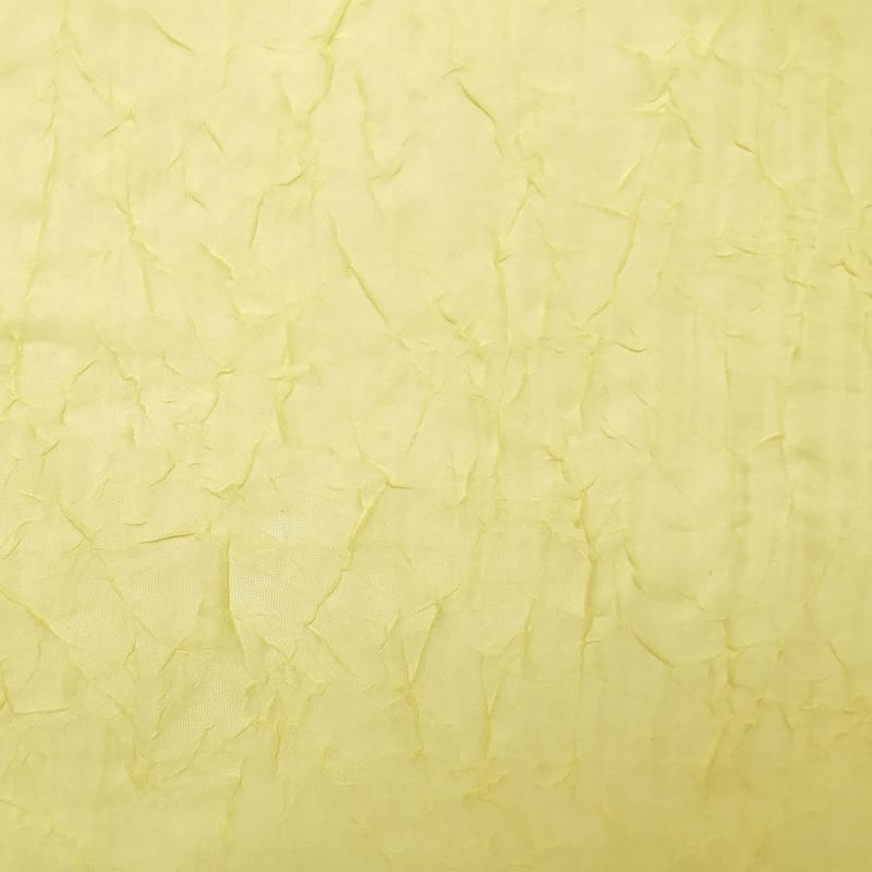 Erica Yellow Sheer Crushed Voile Rod Pocket Window Panel 84in.