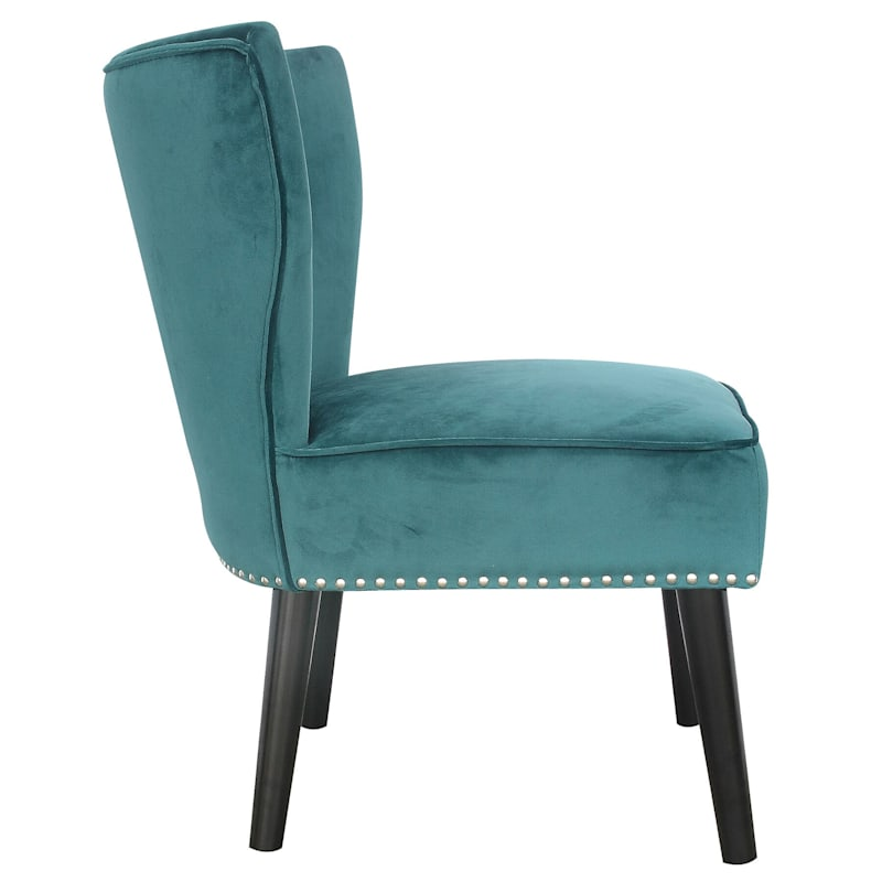 Jasper Tufted Accent Chair, Teal