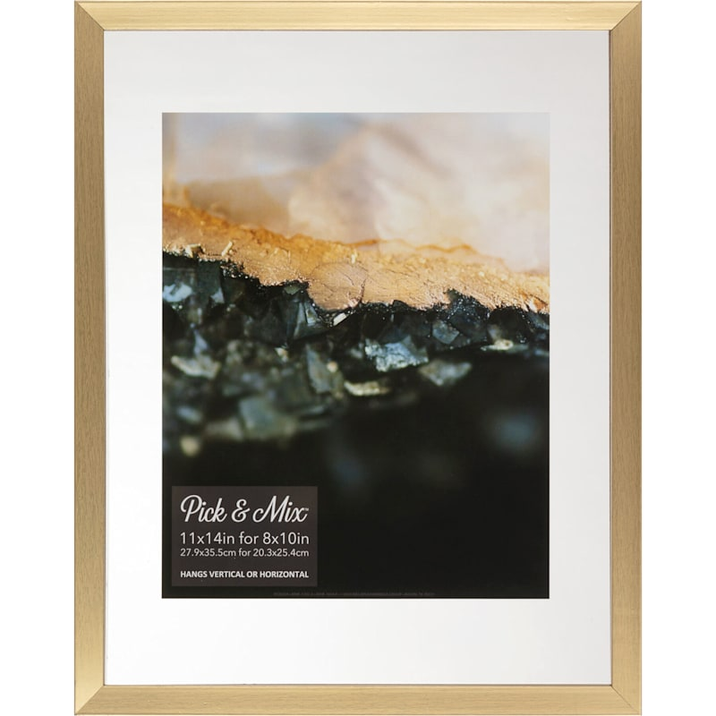 Pick And Mix 11X14 Gold Linear Profile Float Photo Frame