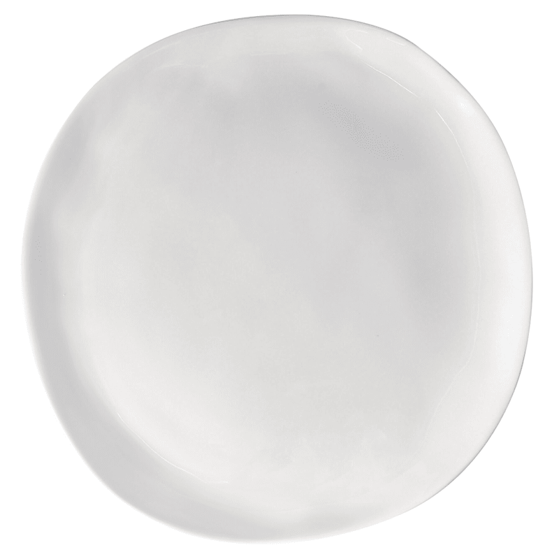 Melamine White Organic Shaped 11in. Dinner Plate
